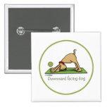 Yoga - Downward Facing Dog 15 Cm Square Badge