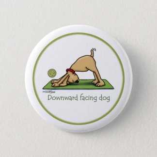 Yoga - Downward Facing Dog 6 Cm Round Badge