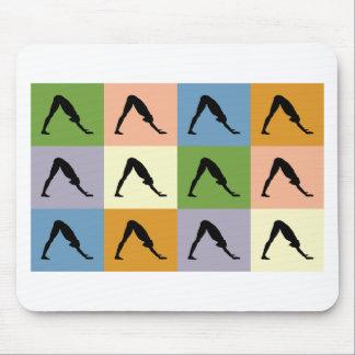Yoga Downward Facing Dog Mousepads