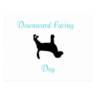 Yoga Downward Facing Dog Post Card