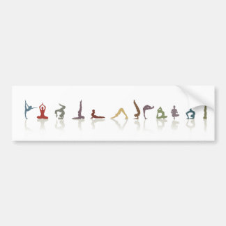 yoga earth bumper sticker