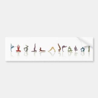 yoga earth bumper stickers
