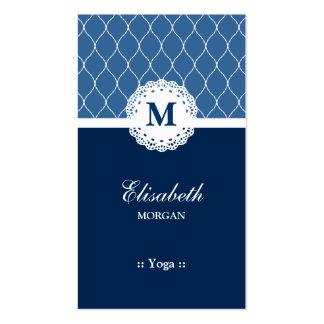 Yoga Elegant Blue Lace Pattern Pack Of Standard Business Cards