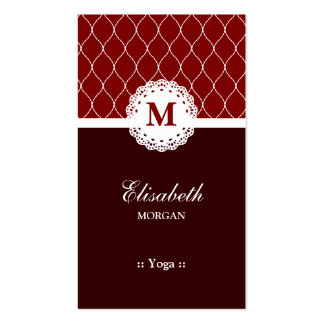 Yoga Elegant Brown Lace Pattern Pack Of Standard Business Cards