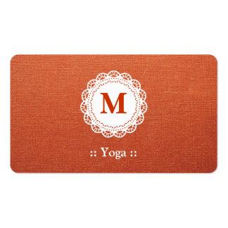 Yoga Elegant Lace Monogram Pack Of Standard Business Cards