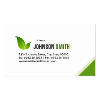 Yoga - Elegant Modern Green Business Cards