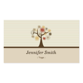 Yoga - Elegant Natural Theme Pack Of Standard Business Cards