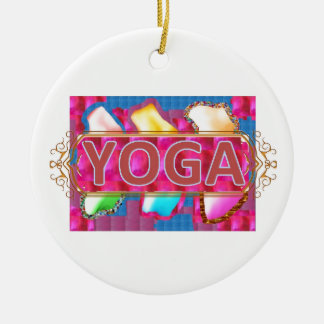 YOGA Enchanting Energy Print Christmas Ornament