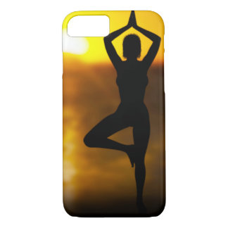 Yoga Female by the Ocean at Sunset iPhone Case