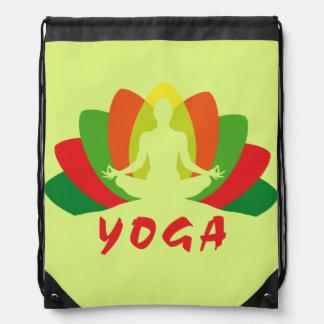 Yoga Flor de Loto Drawstring Bag