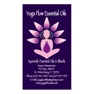 Yoga Flow Essential Oils Business Card Template
