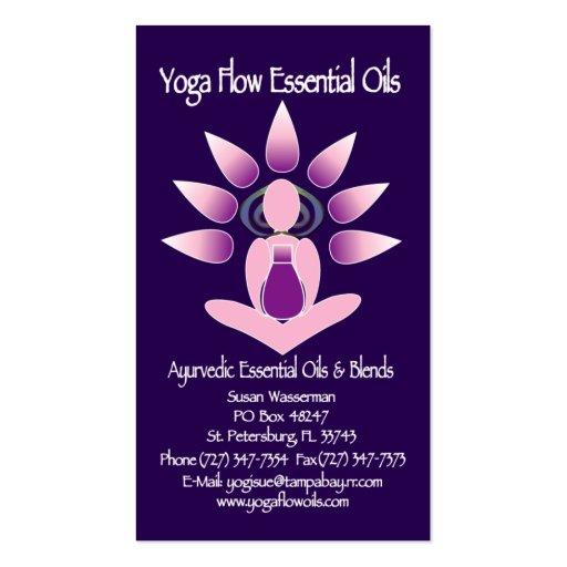 Yoga Flow Essential Oils Business Card Template