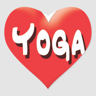 Yoga for Everyone - Red Hearts Heart Sticker