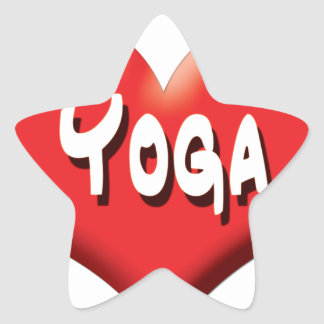 Yoga for Everyone - Red Hearts Star Sticker