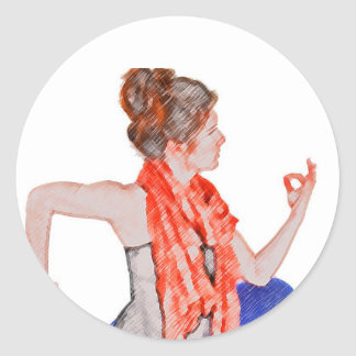 Yoga for Health Round Stickers