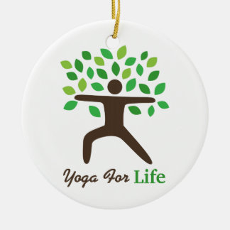 Yoga For Life, Warrior Pose, Tree Christmas Ornament