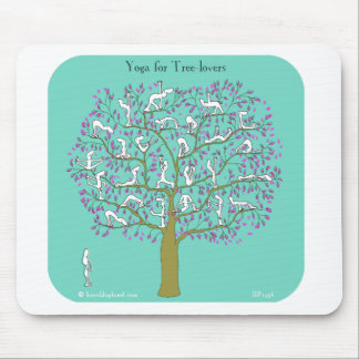 yoga for tree lovers mouse mat