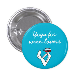 Yoga for Winelovers Blue Badge