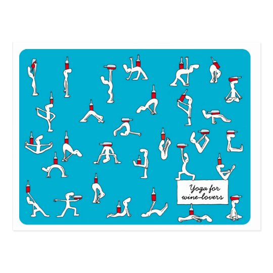 Yoga for Winelovers Postcard