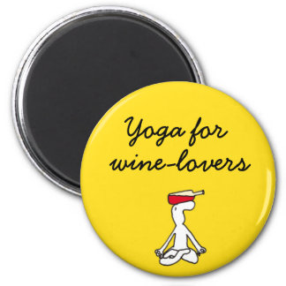 Yoga for Winelovers Yellow Magnet