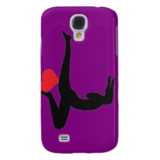 Yoga Forearm Stand - Purple iPhone Case Galaxy S4 Case