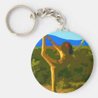 Yoga Freedom Basic Round Button Key Ring