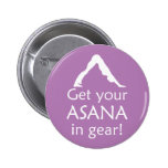 Yoga Get Your Asana In Gear Badge