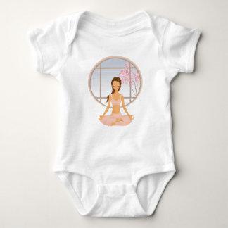 yoga girl baby bodysuit