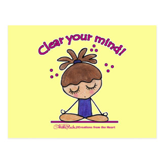 Yoga Girl-Clear Your Mind Postcard