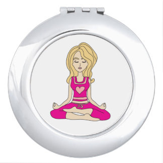 Yoga girl compact mirror