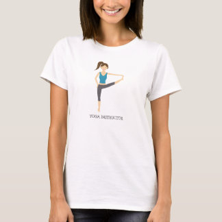 Yoga Girl In Big Toe Pose And Yoga Instructor Text T-Shirt