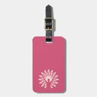 Yoga girl luggage tag
