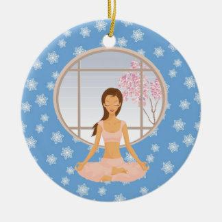 yoga girl ornament