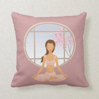 yoga girl pillow
