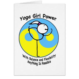 Yoga Girl Power Logo Card