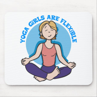Yoga Girls Are Flexible Yoga Mousepads