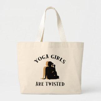 Yoga GIrls Are Twisted  Gift Jumbo Tote Bag