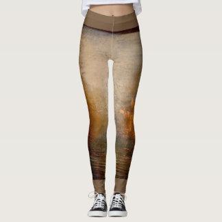 Yoga gold brown leggings