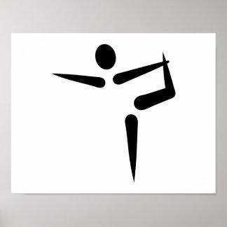Yoga Gymnastics logo Poster