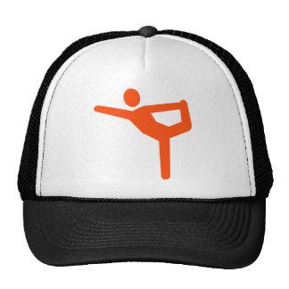 Yoga gymnastics symbol mesh hats