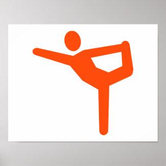 Yoga gymnastics symbol poster