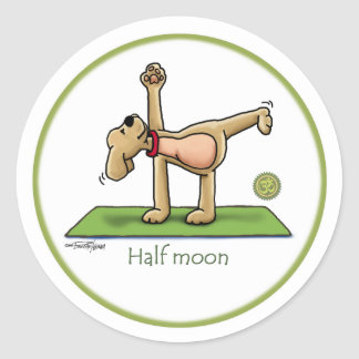 Yoga - Half Moon Classic Round Sticker