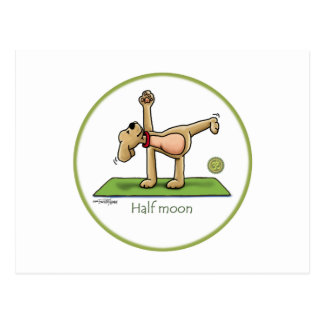 Yoga - Half Moon Postcard