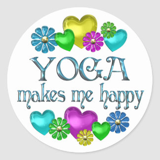 Yoga Happiness Round Sticker