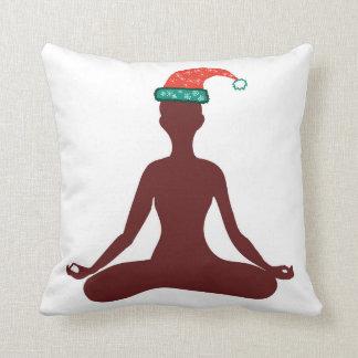 Yoga Happy New Year Cusrom Text Cushion