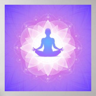 Yoga Harmony Purple Art Illustration Poster