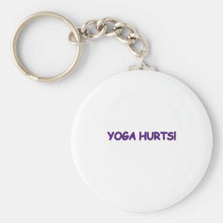 YOGA HURTS BASIC ROUND BUTTON KEY RING