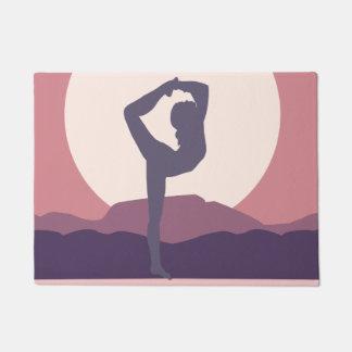 Yoga in Purple Doormat