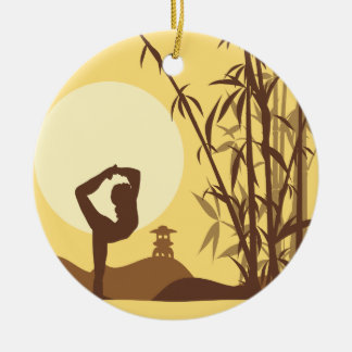 Yoga in Sunshine Christmas Ornament