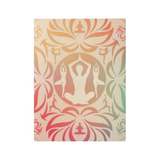 Yoga Inspirations Wood Poster